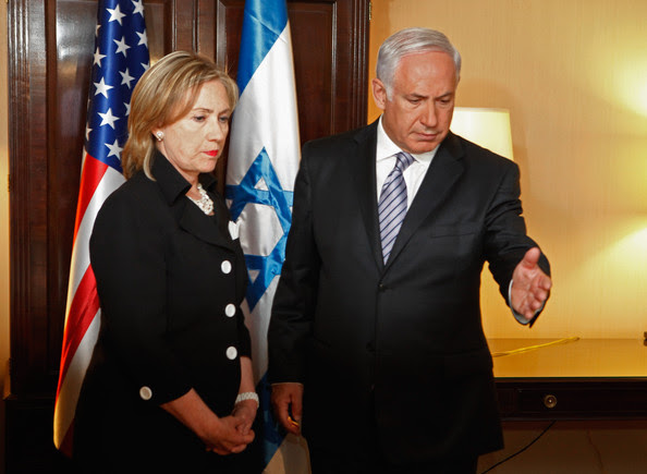 Benjamin Netanyahu U.S. Secretary of State Hillary Clinton (L) meets with Israeli Prime Minister Benjamin Netanyahu at the Mayflower Hotel on the eve of Mideast peace talks August 31, 2010 in Washington, DC. The United States is hosting leaders from Israel, the Palestinian Authority, Egypt and Jordan in hopes of starting a new round of direct peace talks.