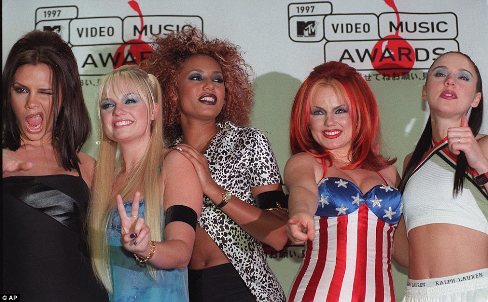Heyday: The Spice Girls at the MTV Video Music Awards in New York in 1997