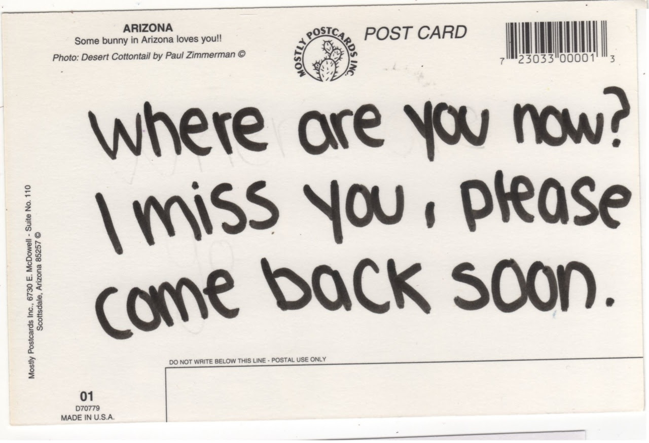 Where Are You Now I Miss You Please Came Back Soon