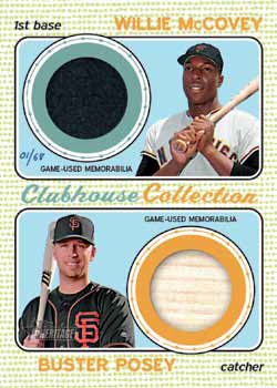 2017 Topps Heritage High Number Baseball Clubhouse Collection Dual Relic