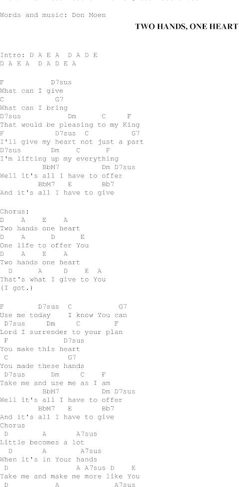 One Hand One Heart Lyrics
