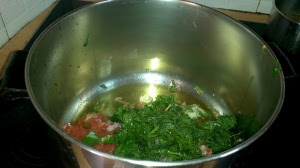 Add your ingredients in the pot.