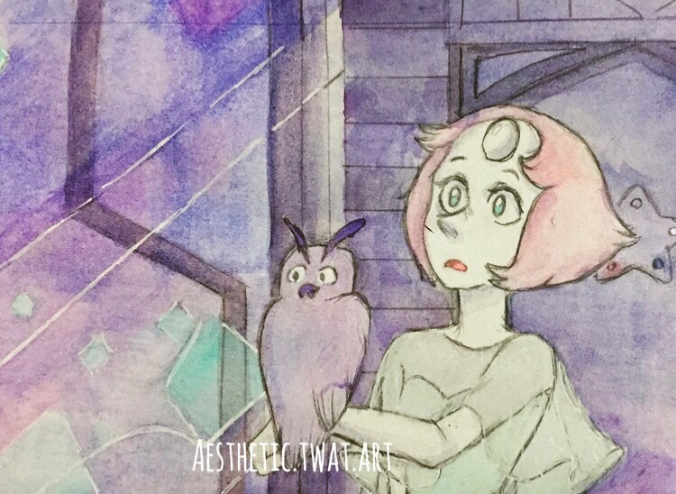 Younger pearl and amethyst