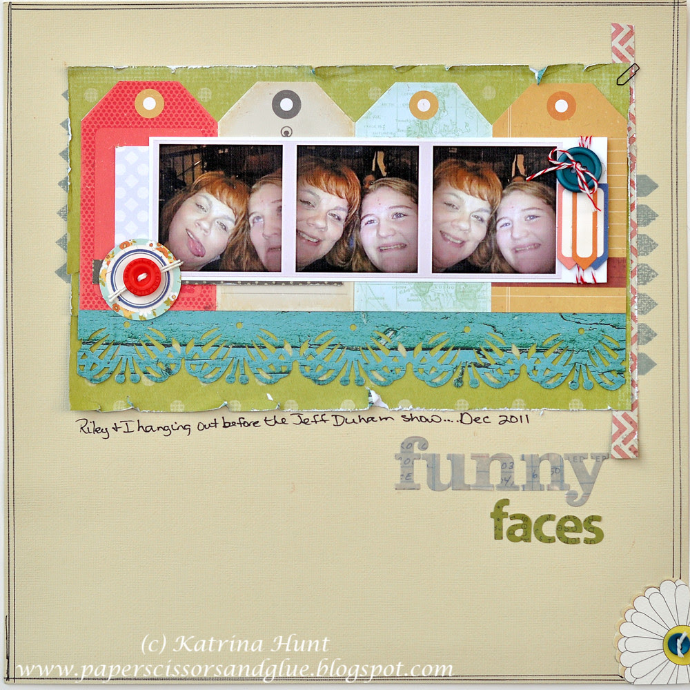 Funny Faces-Playing with Cocoa Daisy July kit