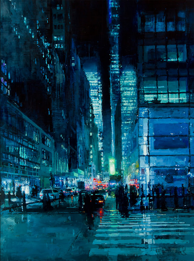 http://www.thisiscolossal.com/2013/01/brooding-cityscapes-painted-with-oil-by-jeremy-mann/