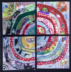Recycled Circles ~ Student work