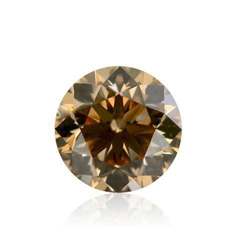 0.92 carat, Fancy Yellowish Brown Diamond, Round Shape