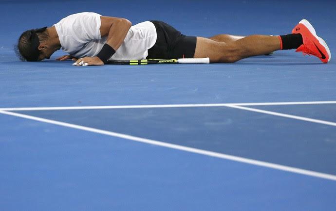 Rafael Nadal x Dimitrov - semifinal Australian Open tênis (Foto: Reuters)
