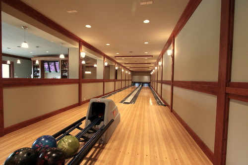 Really Cool Basement Interior Design Photos - Basement Bowling Alley | Live Love in the Home