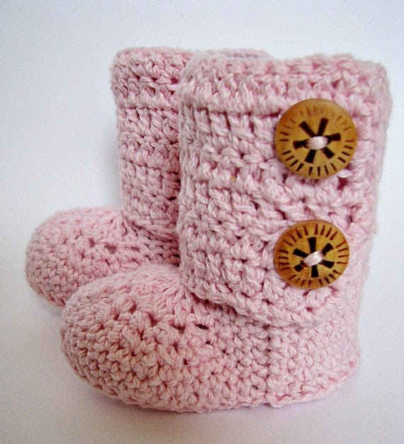 Baby Ankle Booties, Baby Booties, Baby Slippers, Baby Shoes in Pink