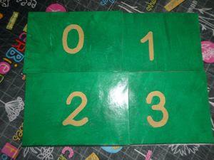 Les chiffres rugueux Montessori