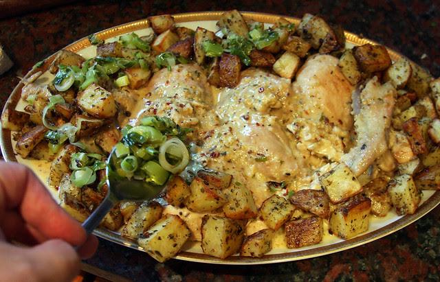 Pollo a la Crema de Mostaza