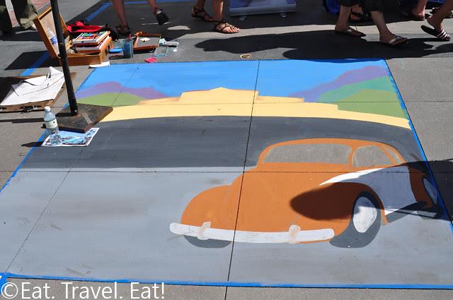 Beetle Chalk Drawing