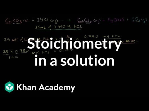 1.18 Stochiometry of Reactions in Solutions