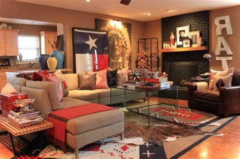 rustic western living room decor  natural wall stone