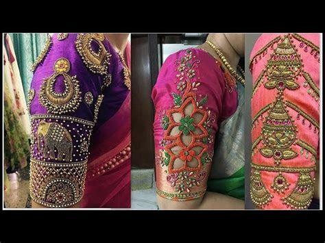 Latest Bridal Pattu Saree Blouse Designs, Designer Saree