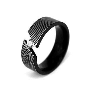 Damascus Steel Plated Wedding Band Ring Set Mokume Gane