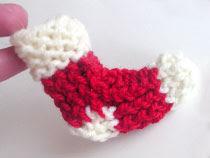 loomknittingdesignscom Little Stocking Holiday Ornament