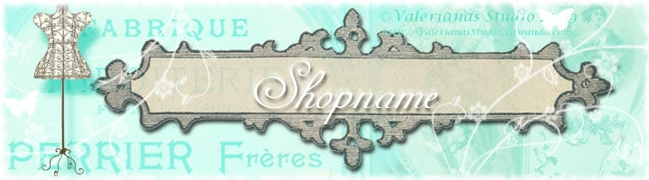 Tailor´s Shop Banner for Dawanda Shops