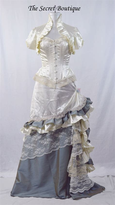 Victorian wedding dress Western wedding gown steampunk