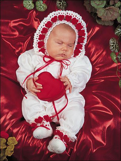 Little Sweetheart Bonnet & Booties