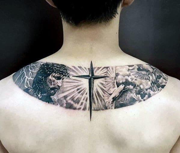 40 Jesus Back Tattoo Designs For Men Religious Ink Ideas