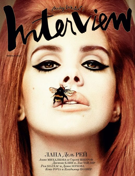 LANA DEL REY INTERVIEW RUSSIA COVER LIPS BEE CAT EYES SIXTIES RETRO INSPIRED BORN TO DIE VIDEO GAMES