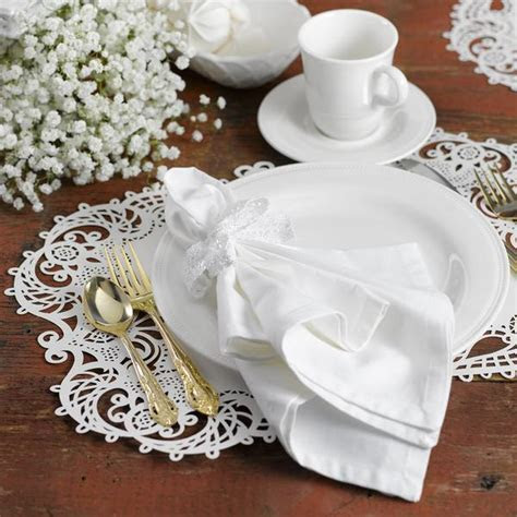 Lace Like Laser Cut Filigree Wedding Placemat (Packs of 12