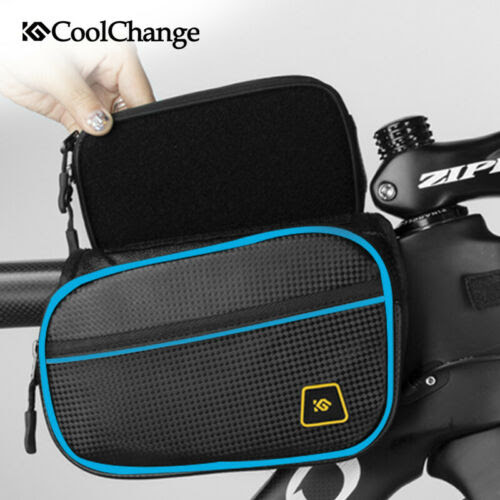 Bags Panniers Bicycle Front Frame Bag Cycling Bike Top Tube Pouch Holder Storage Panniers Blue Sporting Goods
