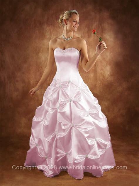 Big Pink Wedding Dress Designs For Girls