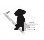 Poodle Sitting Dog Silhouette Yard Art Woodworking Plan - fee plans from WoodworkersWorkshop® Online Store - poodles,silhouettes,dogs,pets,animals,yard art,painting wood crafts,scrollsawing patterns,drawings,plywood,plywoodworking plans,woodworkers projects,workshop blueprints