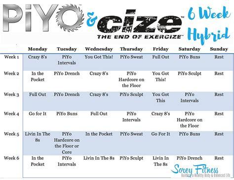 piyo cize hybrid workout  weeks  dance strengthen