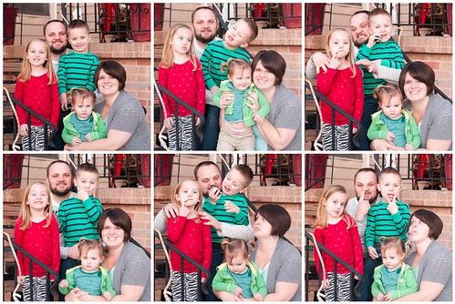 Family Christmas Mosaic
