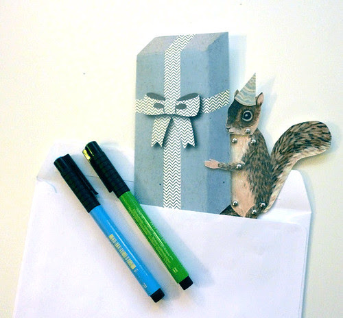 Paper Puppet Birthday Card