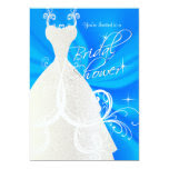 Bridal Shower in Baby Blue Satin 5x7 Paper Invitation Card