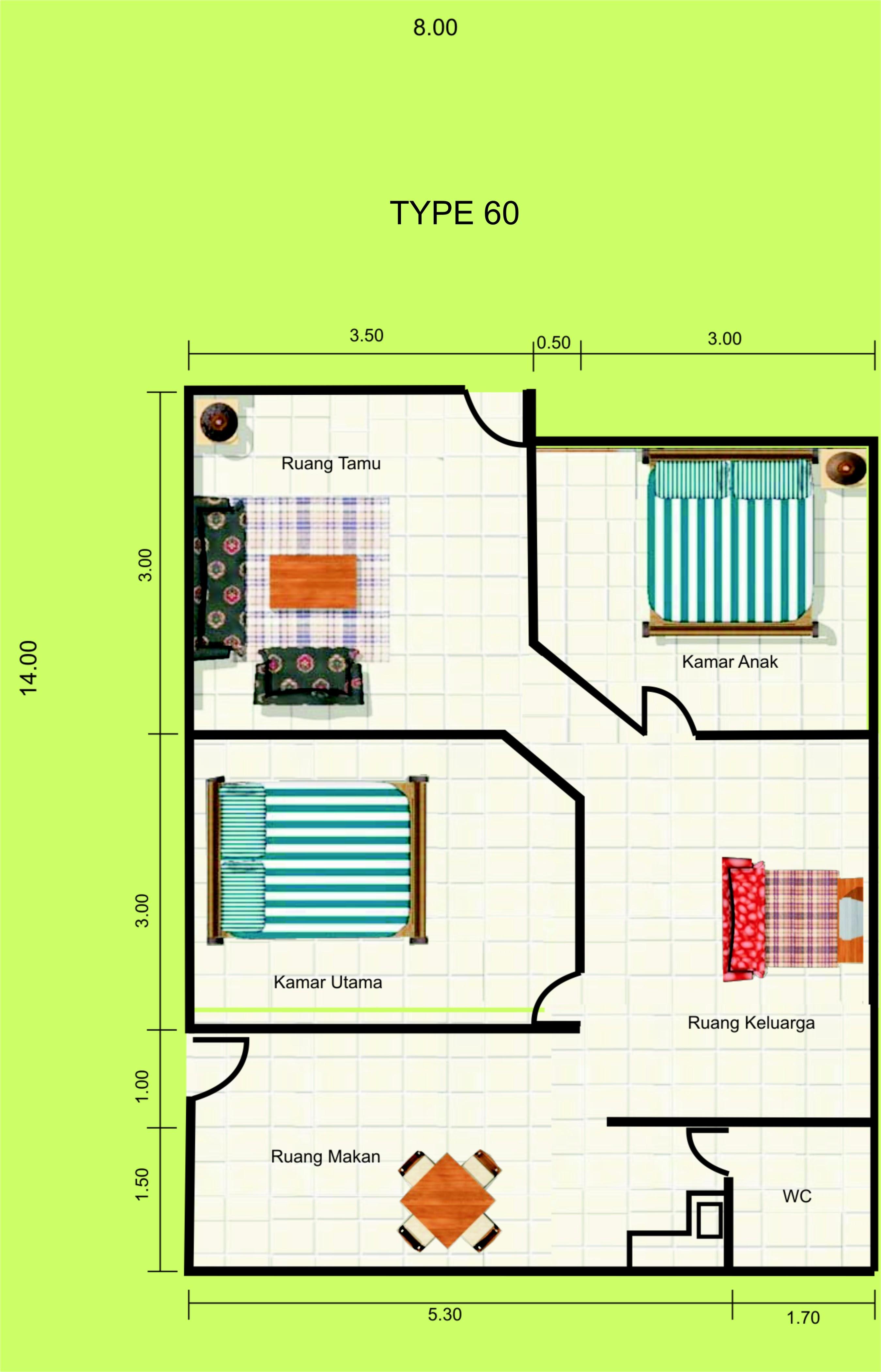 Desain Rumah Minimalis 7 X 18