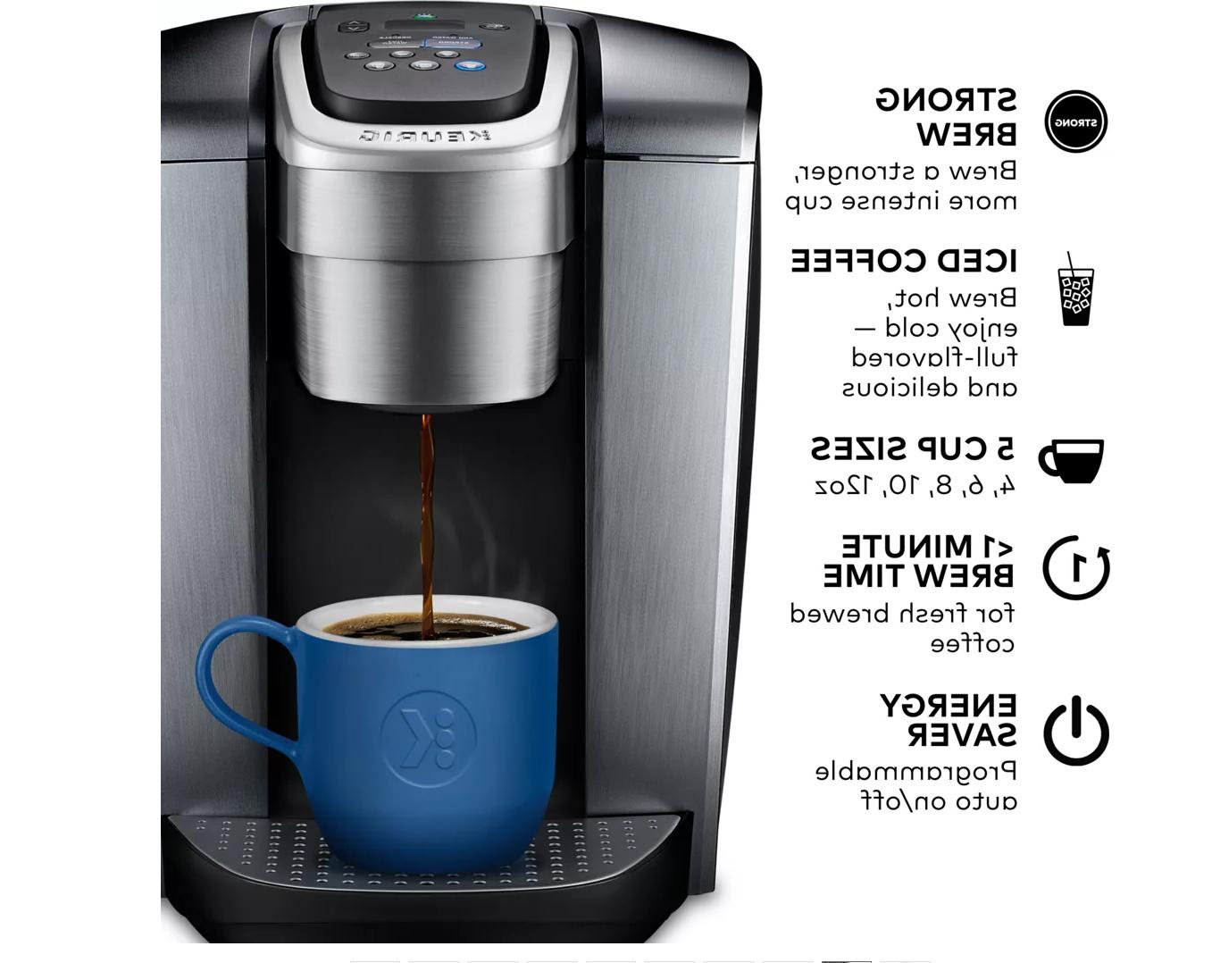Keurig K-Elite Single Serve Coffee Maker - Brushed