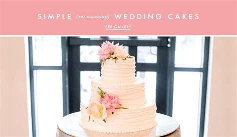 Wedding Cake Ideas: Simple and Clean Cake Designs   Inside