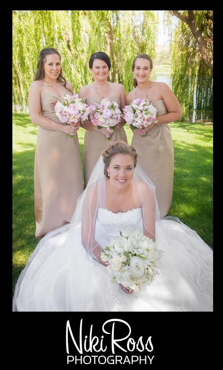 BrideKneelingGirlsStanding