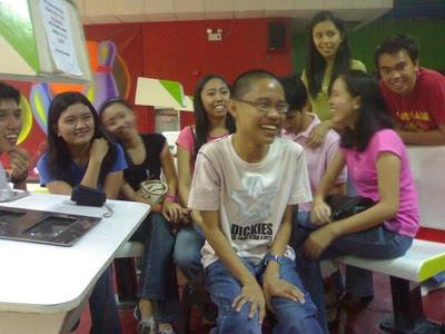 With high school classmates