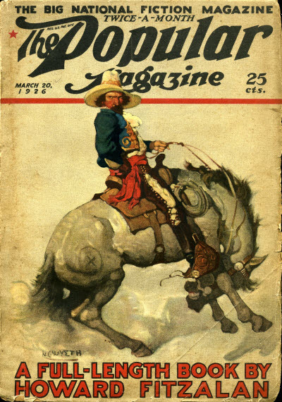 N.C. Wyeth cover for The Popular Magazine issue dated March 20, 1926, courtesy the FictionMags Index