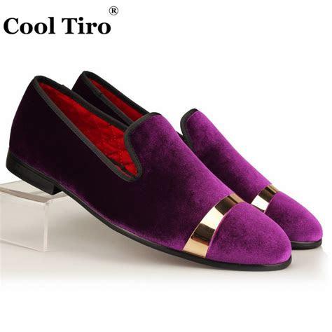 cool tiro men velvet dress shoes purple velour loafers