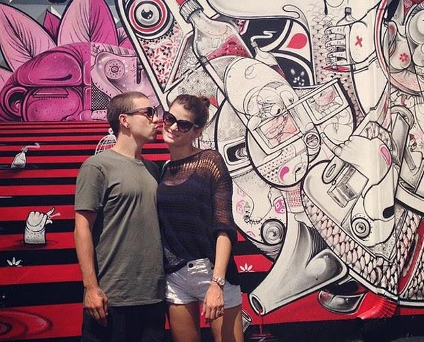 Di e Isabeli em passeio por Miami durante 2014 (Foto: Arquivo Pessoal)
