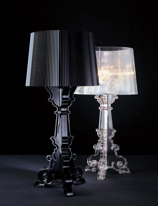 Bourgie, Lámpara de policarbonato, Decoracion, iluminacion, diseño