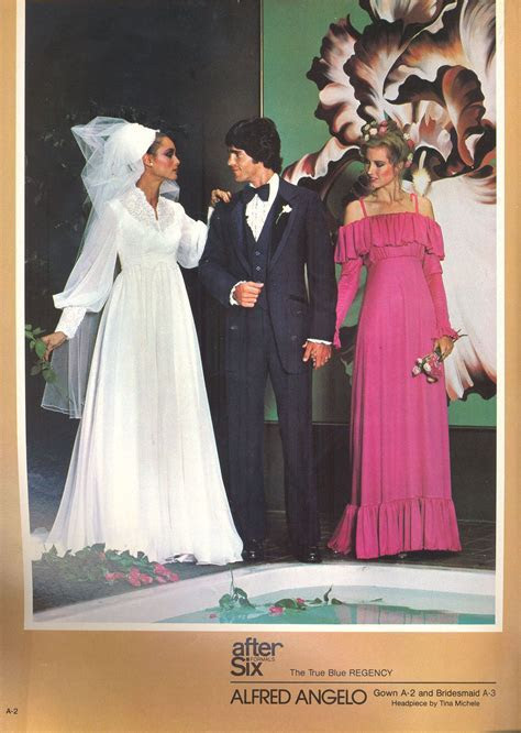 Alfred Angelo vintage designer fashion bride ad from