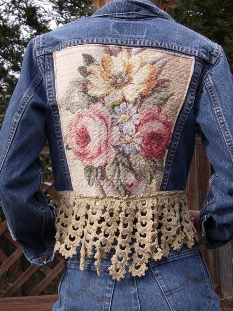 Upcycled Vintage Denim Jean Jacket
