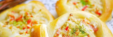 Recipe: Appetizing Baking at Home: Savory Rolls with Imitation Crab