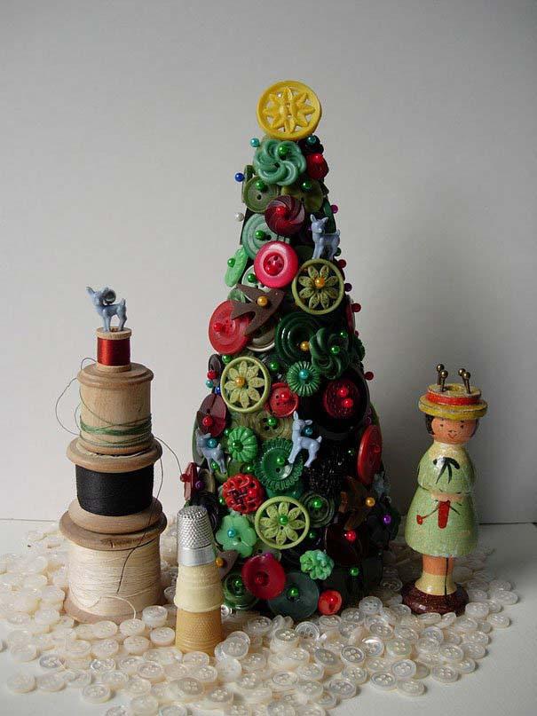 DIY Χριστουγεννιάτικα δέντρα (12)
