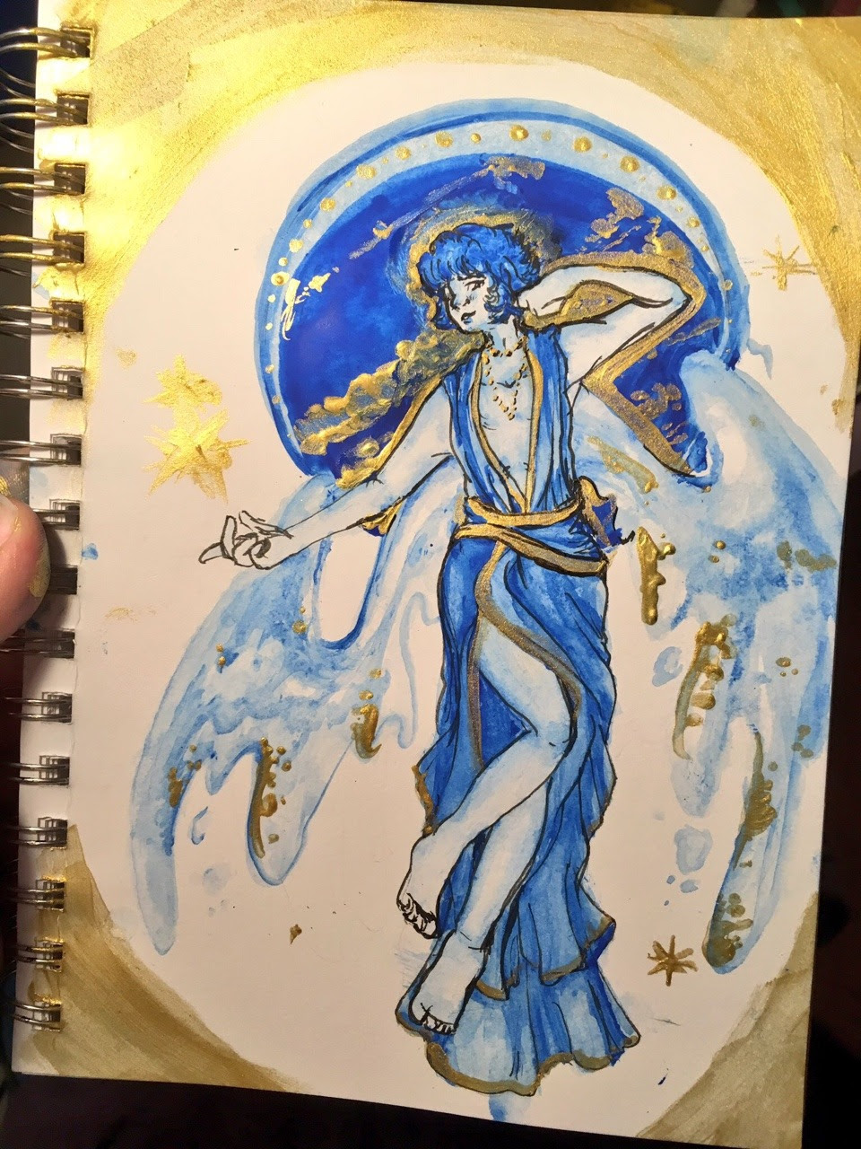 Also: a couple lapis watercolors