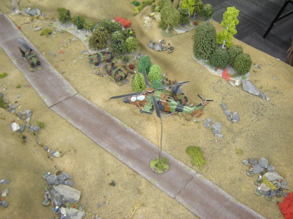 Tiger arrives over battlefield